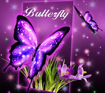 Download 3D Neon Butterfly Theme 2.0.14 APK
