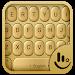 3D Gold Keyboard Theme