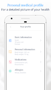 screenshot of Ada Personal Health Companion version 2.2.0