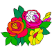 Download Adult Color by Number Book - Paint Flowers Pages 3.1 APK