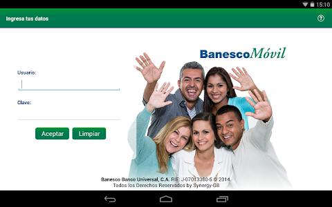 screenshot of BanescoMóvil version 3.2.6