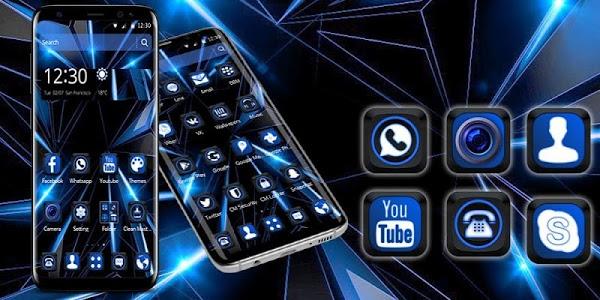 Download Black Blue Future Theme 1.1.5 APK