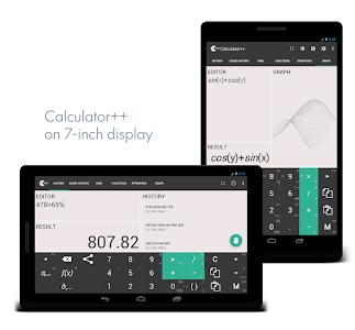 screenshot of Calculator ++ version 2.2.7