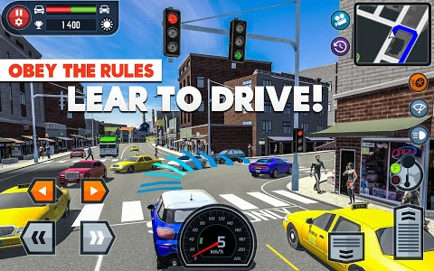 screenshot of Car Driving School Simulator version 2.11