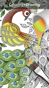 screenshot of Coloring Book For Adults - Mandala Coloring version 1.0.7