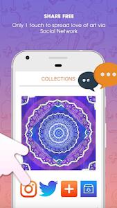 screenshot of Coloring Book For Adults - Mandala Coloring version 1.1.0