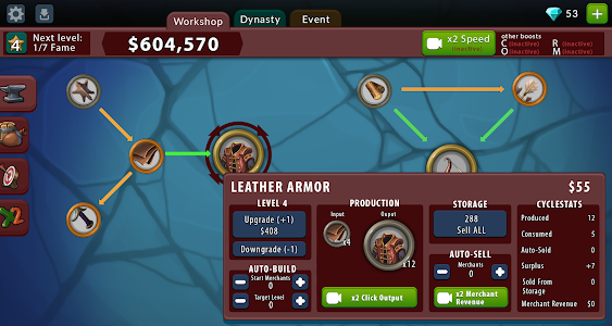 screenshot of Crafting Idle Clicker version 3.8.3