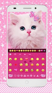 screenshot of Cute Pink Kitty Keyboard version 10001007