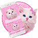Download Cute Pink Kitty Keyboard 10001007 APK