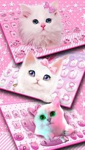 Download Cute Pink Kitty Keyboard 10001007 APK