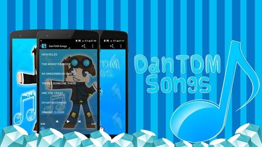 screenshot of DanTDM Songs version 2.0