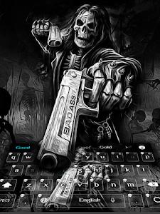Download Death skull Gun Theme Keyboard 10001008 APK