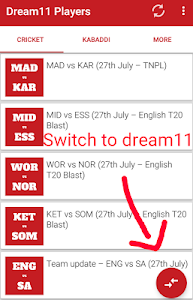 Download Dream 11 Players 2 APK