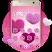 Download Fluffy diamond Hearts Theme: Pink Comics Launcher 3.9.10 APK