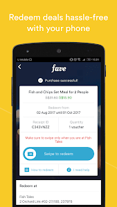 screenshot of Fave - Deals & Cashback version 2.34.2