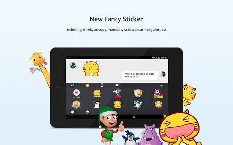 screenshot of GO Keyboard - Emoticon keyboard, Free Theme, GIF version 3.20