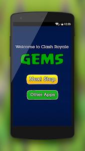 screenshot of Gems for Clash Royale  version 3.3