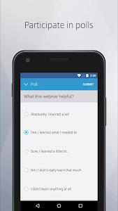 screenshot of GoToWebinar version 3.2.4