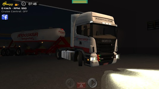 screenshot of Grand Truck Simulator version 1.0