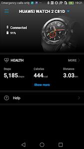 screenshot of Huawei Wear version Varies with device