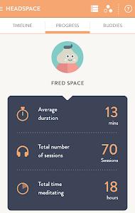 screenshot of Headspace.com - meditation version 2.0.3