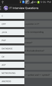 screenshot of IT Interview Questions version 1.2