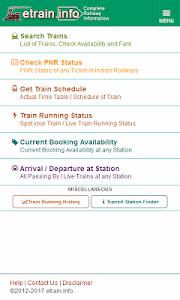 Download Indian Railways @etrain.info  APK