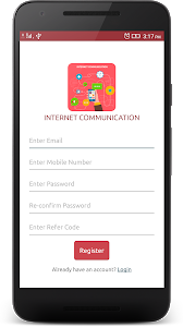 screenshot of Internet Communication version 1.0