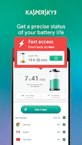 screenshot of Kaspersky Battery Life: Saver & Booster version 1.6.4.763