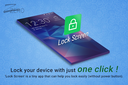screenshot of ZERO Lock Screen version 1.3