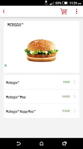 screenshot of McDelivery India – North&East version 3.1.9