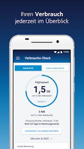 screenshot of Mein o2 version 7.3.2