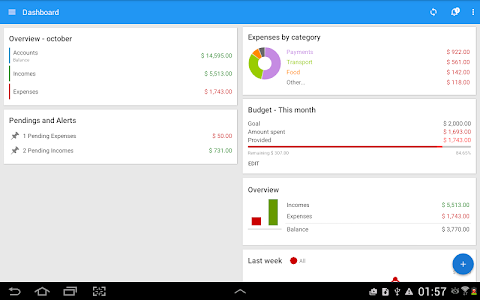 screenshot of Mobills: Budget Planner version 3.0.17.01.16