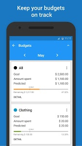 screenshot of Budget & Expense Manager version 2.0.16.05.24