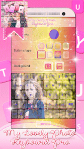 screenshot of My Lovely Photo Keyboard Pro version 3.0