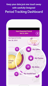 screenshot of My Period Tracker / Calendar version Varies with device