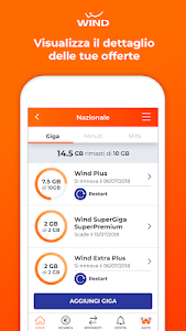 screenshot of MyWind (App ufficiale Wind) version 5.0.8(1)