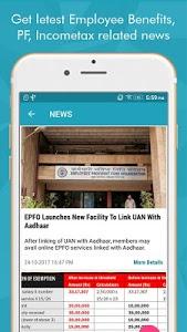 screenshot of EPF Passbook, EPF Balance, PF Claim Status & UAN version 1.4.3