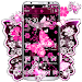 Download Pink Black Butterfly Theme 1.1.7 APK