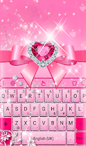 screenshot of Pink Diamond Princess Keyboard Theme version 6.5.7