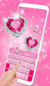 screenshot of Pink Diamond Princess Keyboard Theme version 6.5.3