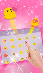 screenshot of Pink Diamond Princess Keyboard Theme version 6.4.12