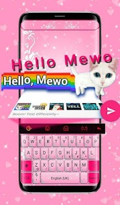 screenshot of Pink Diamond Princess Keyboard Theme version 6.10.13