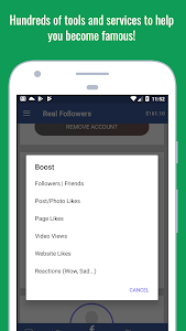screenshot of Real Followers - Instagram Followers & Likes version 1.0.6