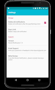 screenshot of Recent Notification version 1.6.1