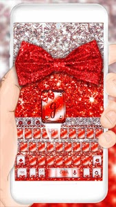 Download Red Glitter Bow Theme 10001004 APK