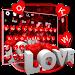 Download Red Glitter Love Keyboard 10001015 APK