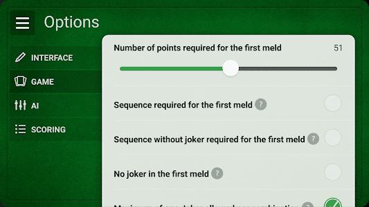 screenshot of Rummy - Free version 0.9.15