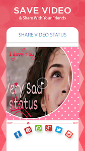 screenshot of Sad Video Status version 1.0.5