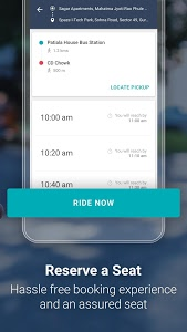 screenshot of Shuttl - Daily office commute from home in a bus version 3.6.13